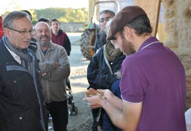 Discussion autour des céréales produites sur la ferme